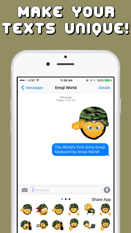 Army Emojis Keyboard Memorial Day Edition by Emoji World screenshot-3