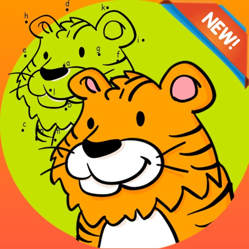 Brain dots Coloring Book - coloring pages dot games free for kids and toddlers iOS App
