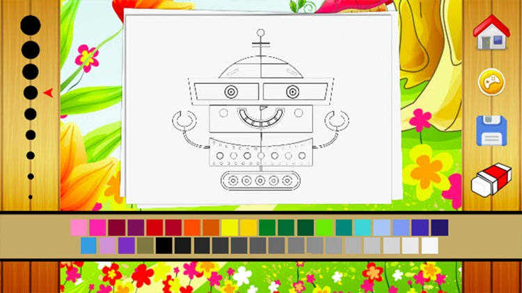 Robot Coloring Book - Drawing and Painting Colorful for kids games free