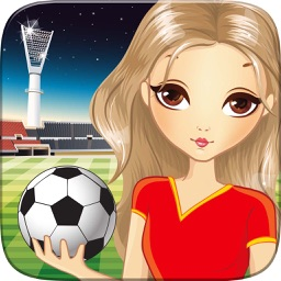 Pretty Girl Fashion Sport Coloring World - Paint And Draw Football For Kids Game