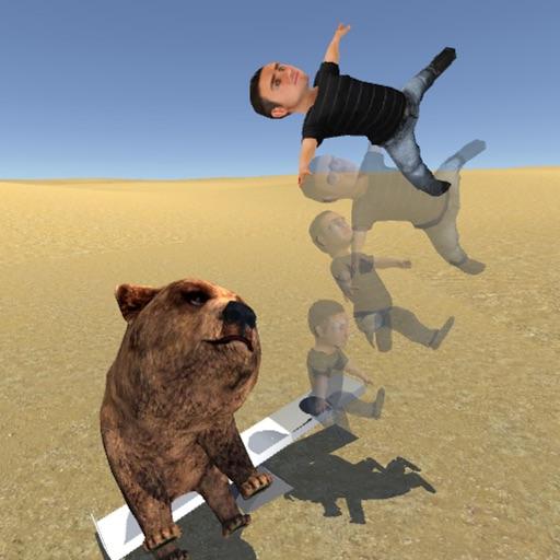 高いとこからシーソーに飛び降りたら、逆側の人は何m跳ぶのか?
