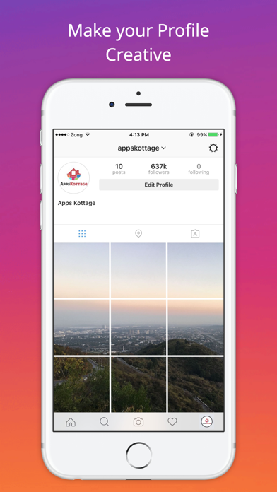 Grid Style for Instagram - Instagrid Post Banner sized full size Big Tiles for IG screenshot four