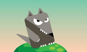 Blocky Rabbit Jumping - Wolf Challenge