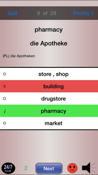 German Vocabulary 24/7 Language Learning screenshot four