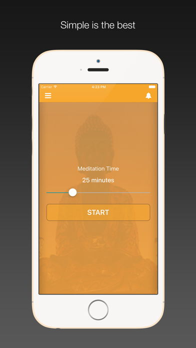 Perfect Zen - Meditation Timer with Interval bell, ambient sounds screenshot one