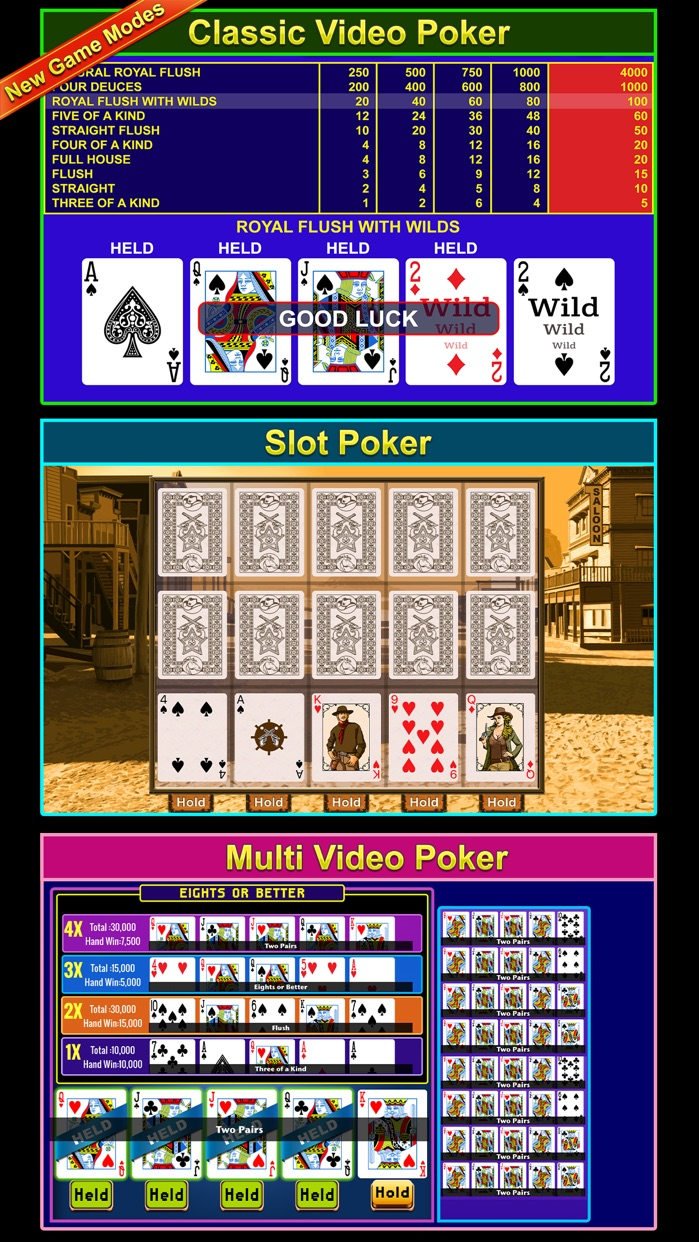 Video Poker  - FREE Multihand Casino Free Video Poker Deluxe Games Screenshot