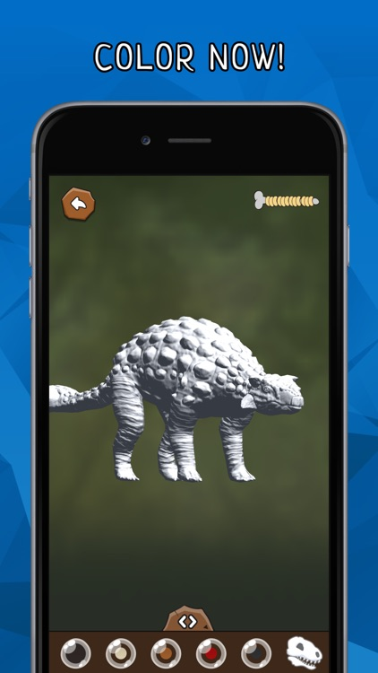 DINOZZZ - 3D Coloring MAX - unique, interactive, animated full-3D live dinosaurs coloring & painting experience for kids & adults screenshot-4