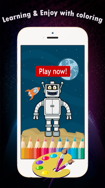 Coloring Book games free for children age 1-10: These cute robot transformer coloring pages provide hours of fun drawing or coloring activities screenshot-3
