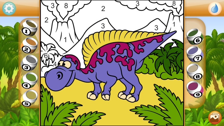 Paint by Numbers - Dinosaurs +