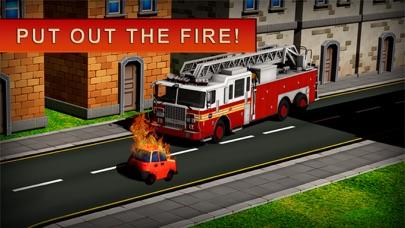119 消防卡車模擬器 3D - 消防員值班屏幕截圖3