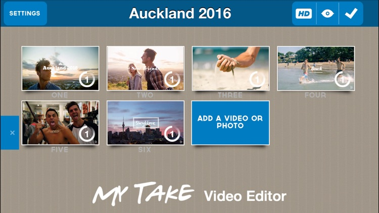 EF MyTake Video Editor for iPhone