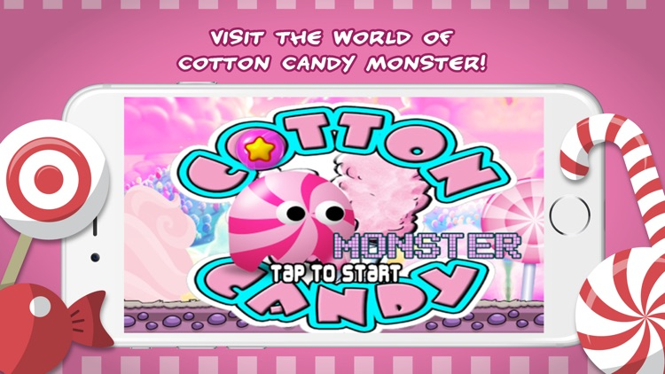 Cotton candy monster