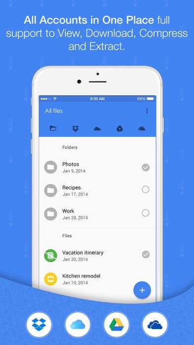 Easy Zip - With Dropbox, Google Drive, iCloudのおすすめ画像1