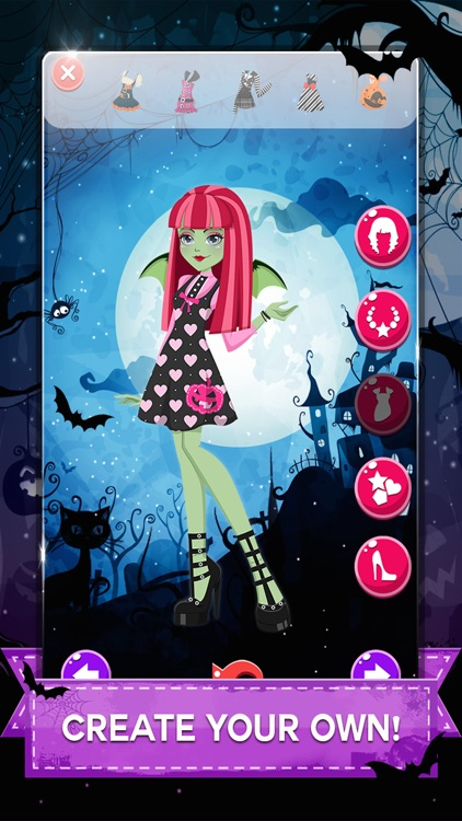 """ Descendants of Monster Girl "" Dress-up - Ever after Halloween hight party salon game screenshot-2"