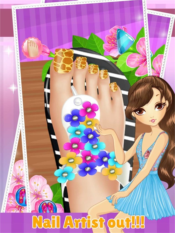 Toe Nail Spa Salon Beautiful Princess Girls Makeover And Games