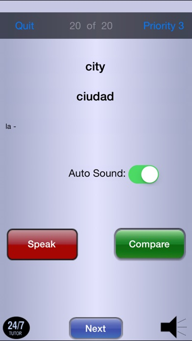 Learn Spanish 24/7 FREE Language Learning iPhone