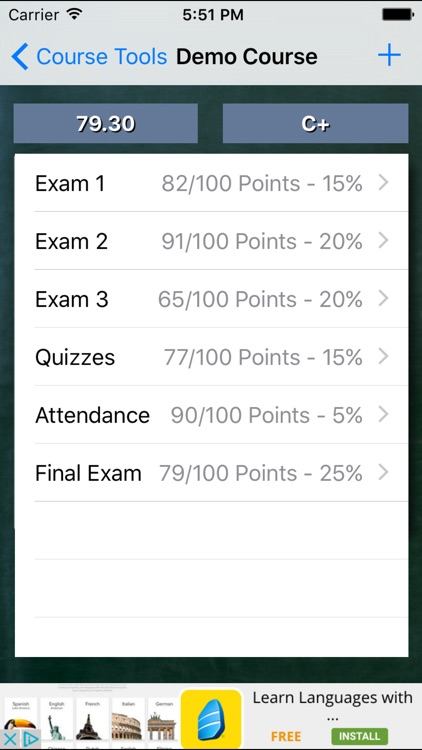 Grade Calculator Plus screenshot-1