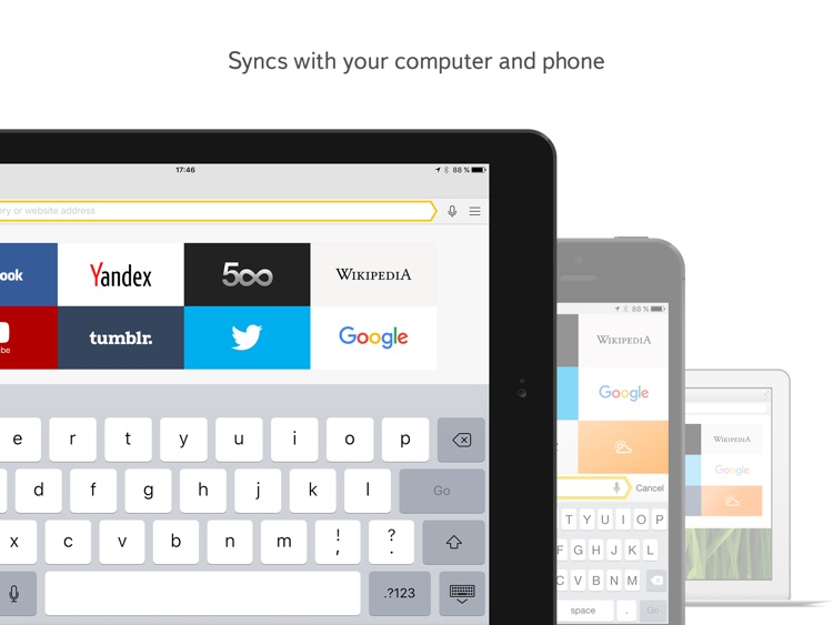 Yandex Browser for iPad screenshot-3