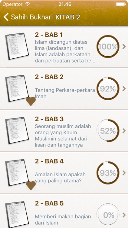 Sahih Al-Bukhari in Indonesian Bahasa and in Arabic - +7000 Hadiths - صحيح البخاري screenshot-1