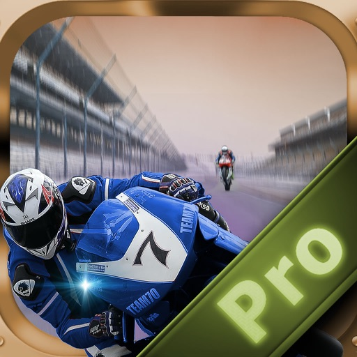 A Fast Motorcycle Racing Fury Pro - A Lighted Track