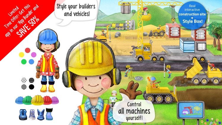 Tiny Builders - Action Construction Site for Kids! screenshot-0