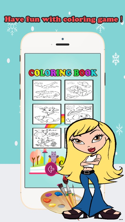 Coloring Book ABCs pictures: Finger drawing games