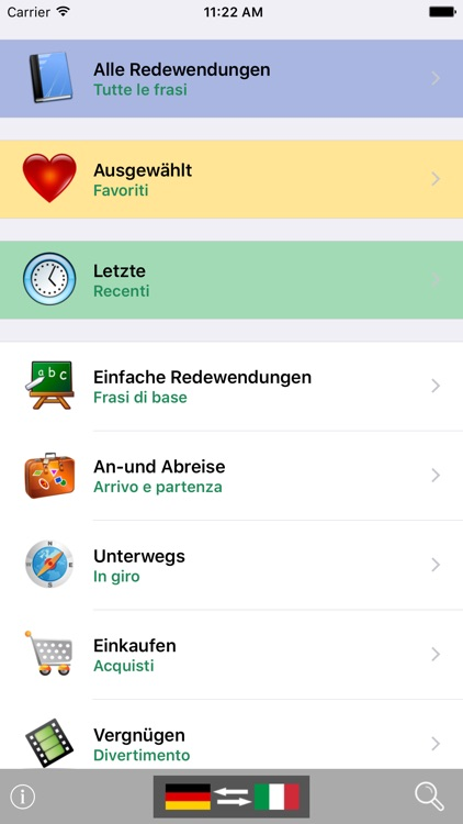 German / Italian Talking Phrasebook Translator Dictionary - Multiphrasebook screenshot-0