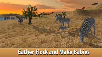 Zebra Simulator 3D Full - African Horse Survival screenshot two