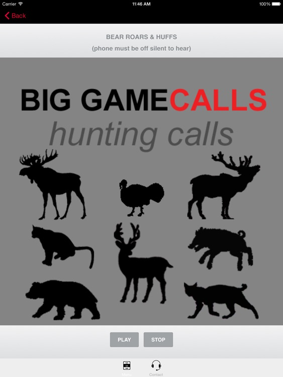 Big Game Hunting Calls SAMPLER - The Ultimate Hunting Calls App For Whitetail Deer, Elk, Moose, Turkey, Bear, Mountain Lions, Bobcats & Wild Boar screenshot-0