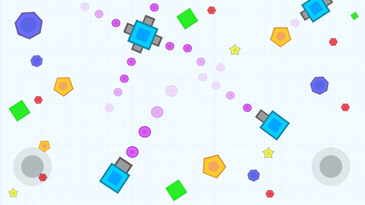 Tank War - Geometry Go Shot Color Dot.IO