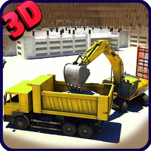 экскаватор симулятор 3D - диск тяжелой строительной крана в режиме реального парковки симулятор