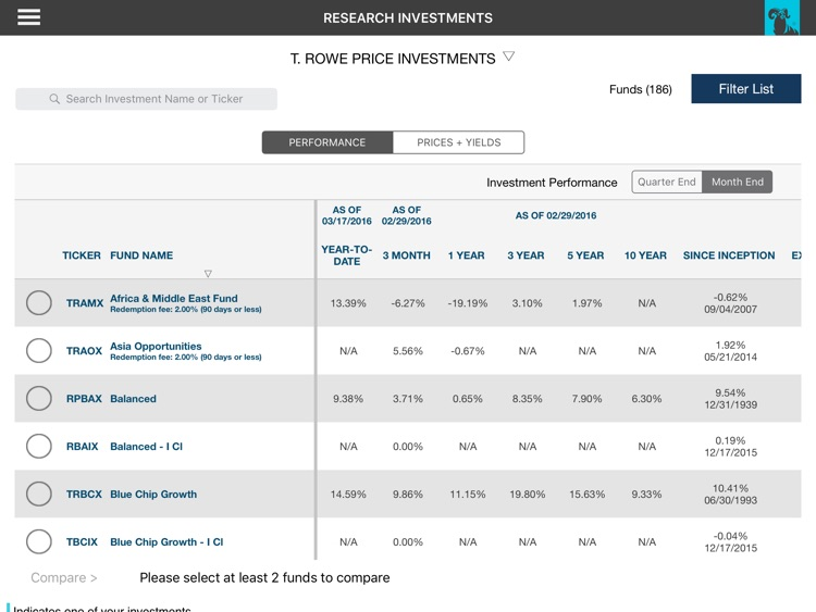 T. Rowe Price Personal® iPad® screenshot-4