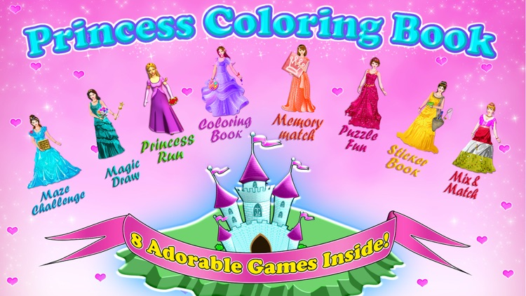 Little Princess Coloring Book! screenshot-0