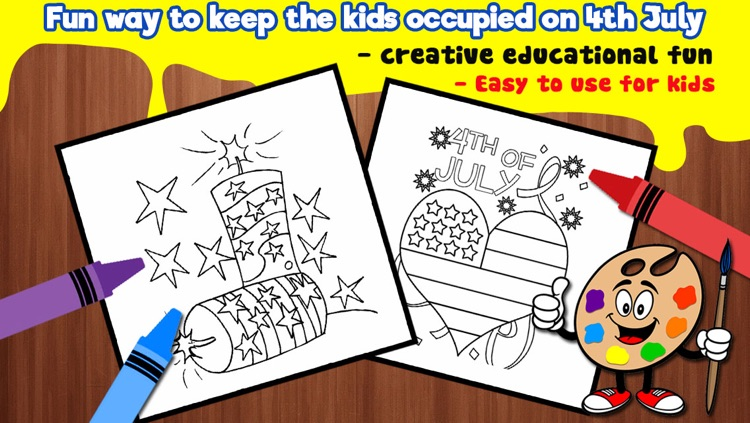 Independence Day Coloring Books - 4th Of July Special Edition screenshot-3