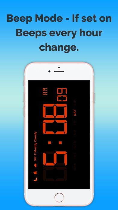 天氣預報時鐘免費屏幕截圖2