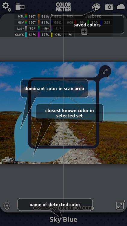 ColorMeter RGB Hex Color Picker and Colorimeter screenshot-3