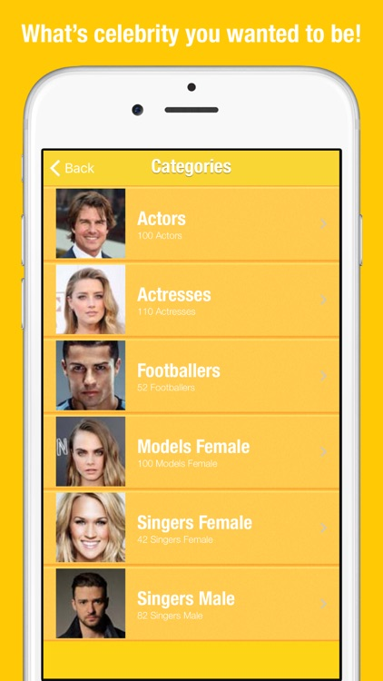 Celebrities for Snapchat - Face Swap for Video Photo Selfies