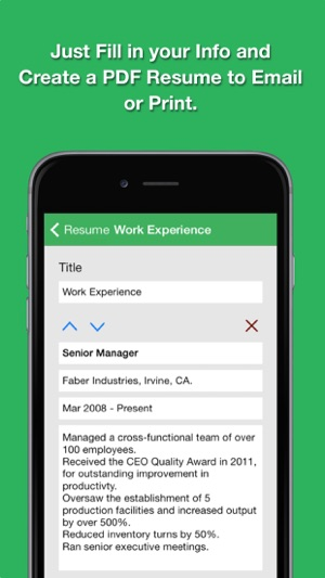 smart resume pro resume and cv designer on the app store
