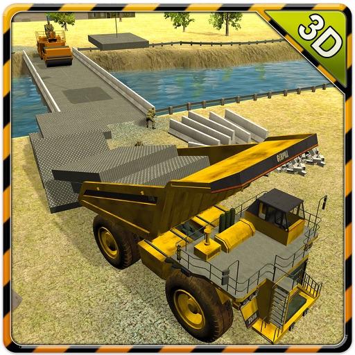 Армия строительство моста Тренажер - мега машины и грузовой кран игра вождения