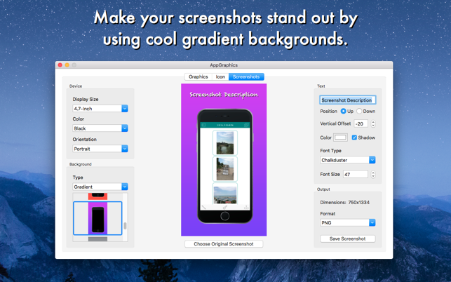 ‎AppGraphics - App Icon and Screenshot Generator Screenshot