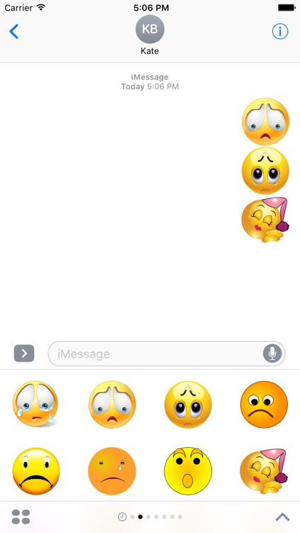 Emotional Stickers Pack For iMessage