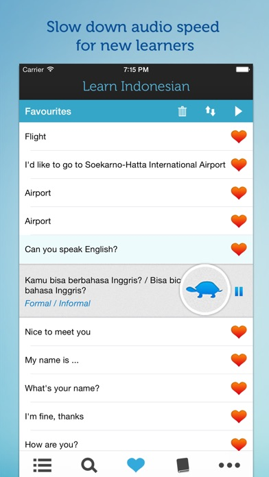 Learn Indonesian - Phrasebook for Travel in Indonesia, Bali, Java, Sumatra, Lombok and the Gili Island iPhone