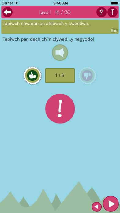 LearnCymraeg Canolradd Level 3 screenshot four