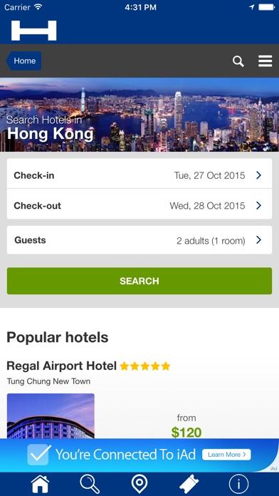 香港對於今晚與地圖和旅行遊覽比較和預訂酒店屏幕截圖1