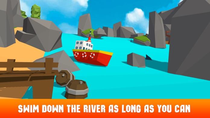 Pixel Boat Crash: Faily Brakes Screenshot