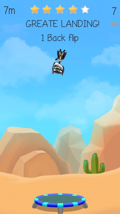 Trampoline Backflip - Diving Madness Man Games screenshot-4