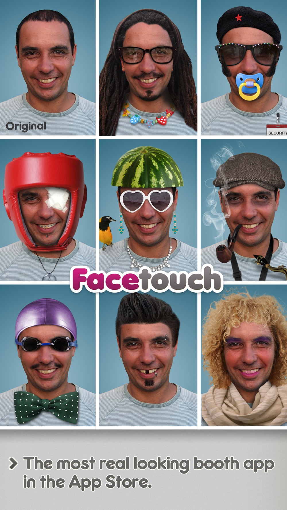 Facetouch HD Lite – Create funny and cool Booth pics