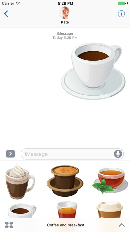 Coffee and Breakfast - stickers for iMessage screenshot-3