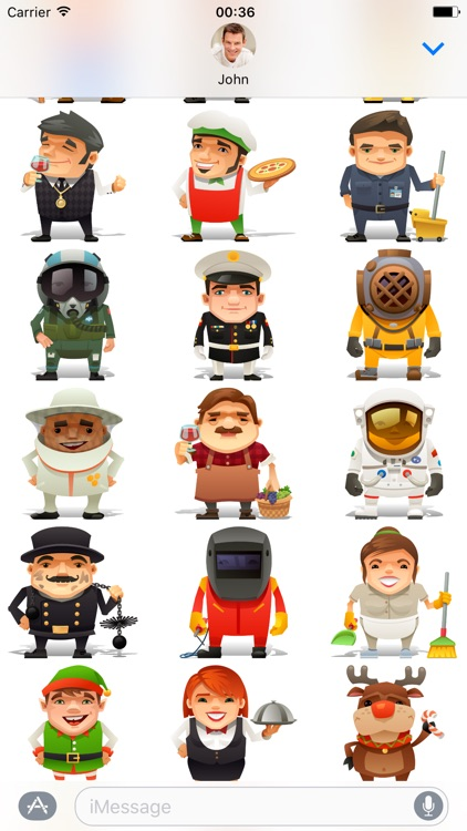 Professions - Stickers for iMessage screenshot-3