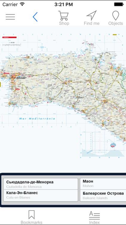 Menorca. Road map.